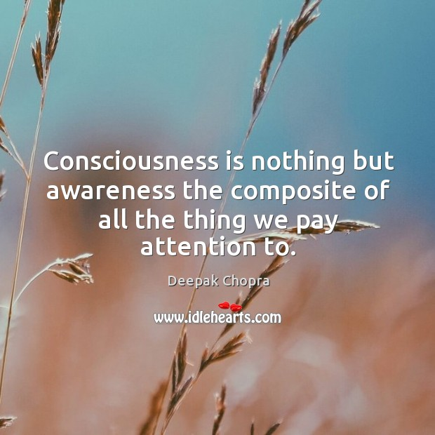 Image, Consciousness is nothing but awareness the composite of all the thing we pay attention to.