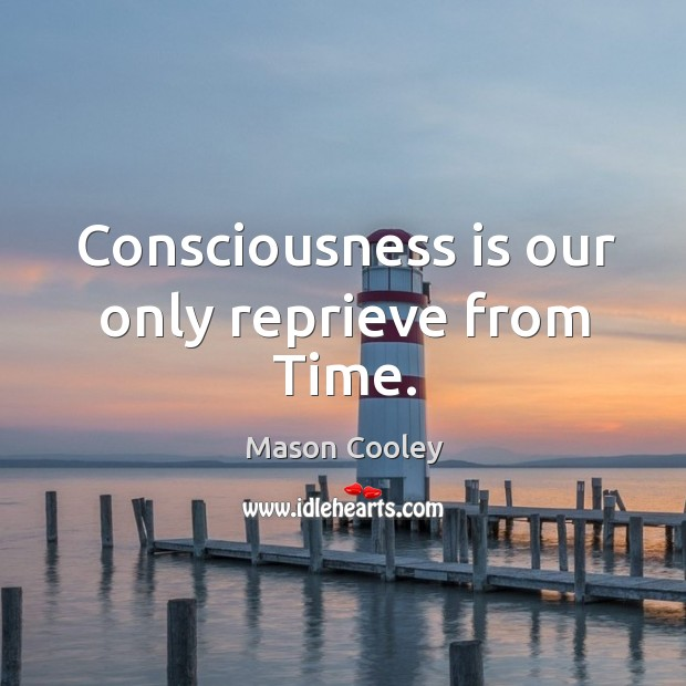 Image, Consciousness is our only reprieve from time.
