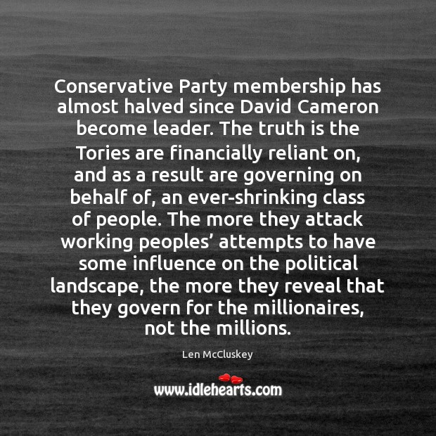 Conservative Party membership has almost halved since David Cameron become leader. The Image