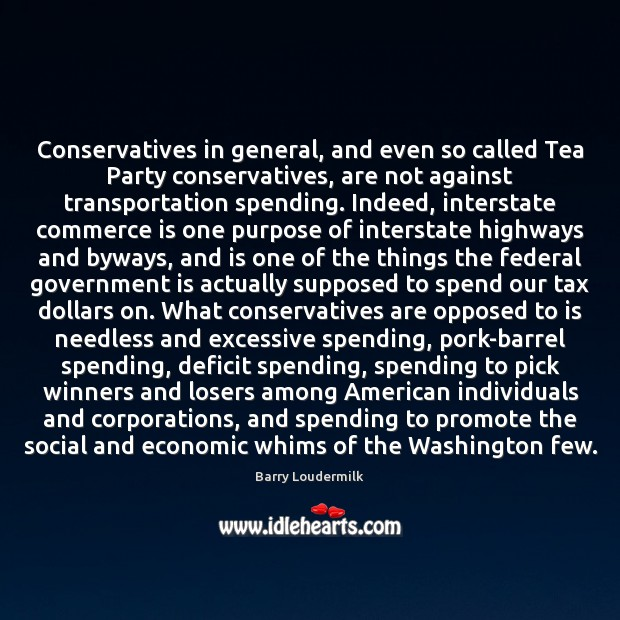 Image, Conservatives in general, and even so called Tea Party conservatives, are not