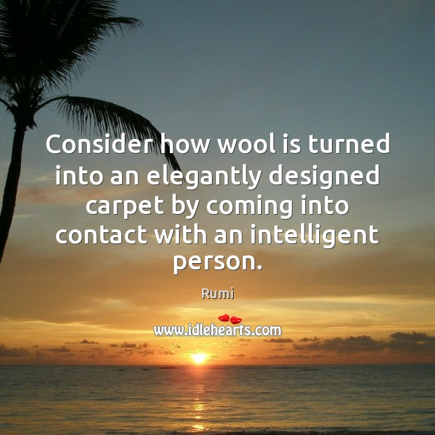 Consider how wool is turned into an elegantly designed carpet by coming Image