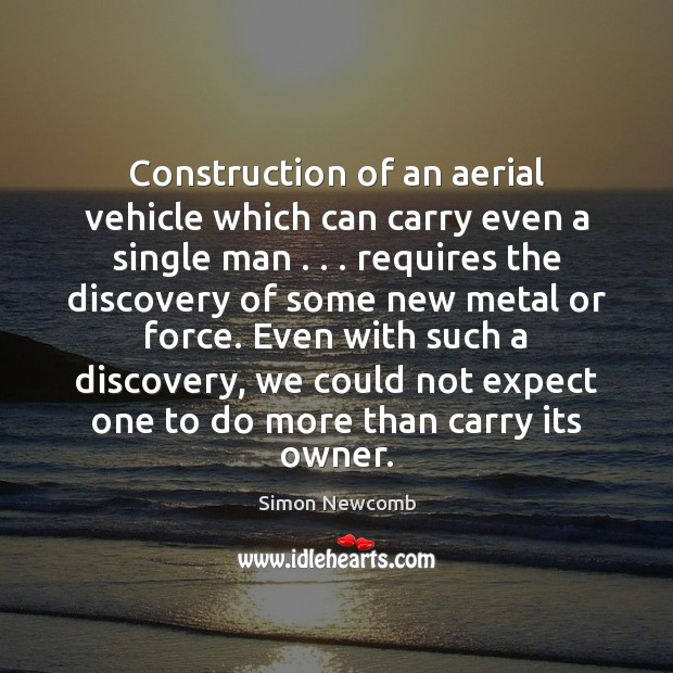 Image, Construction of an aerial vehicle which can carry even a single man . . .
