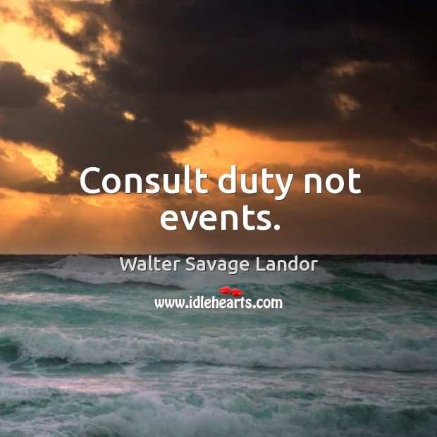 Image, Consult duty not events.