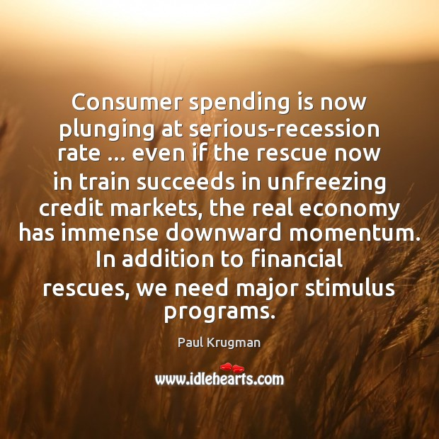 Image, Consumer spending is now plunging at serious-recession rate … even if the rescue