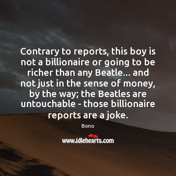 Contrary to reports, this boy is not a billionaire or going to Image