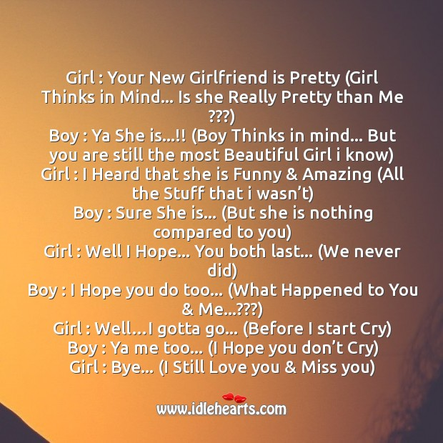 Image, Conversation between boy and girl after break-up