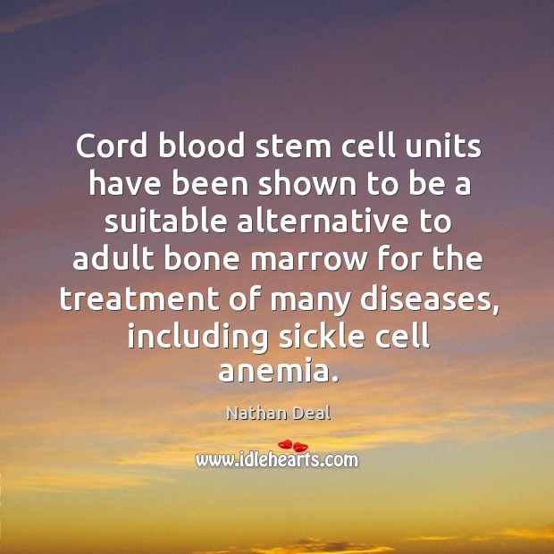Image, Cord blood stem cell units have been shown to be a suitable alternative