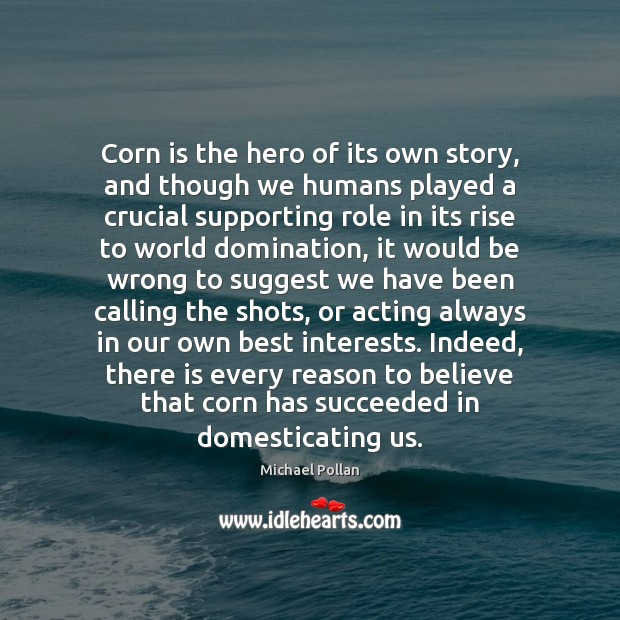Image, Corn is the hero of its own story, and though we humans