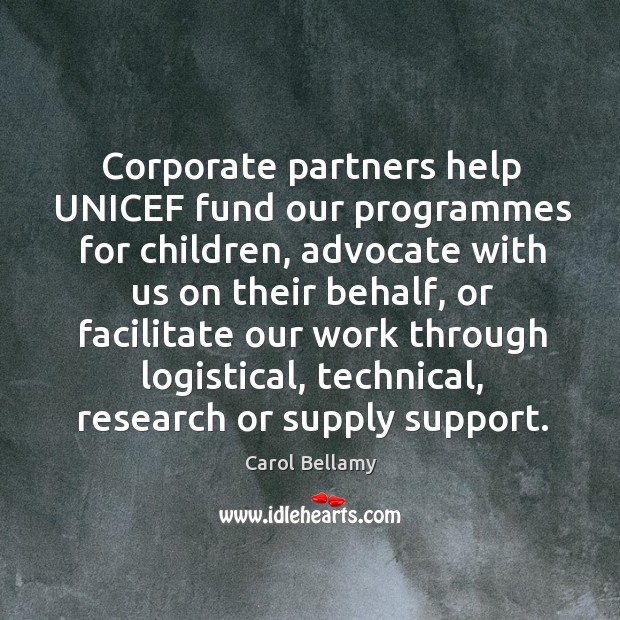 Corporate partners help unicef fund our programmes for children, advocate with us Image