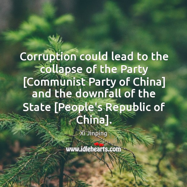Image, Corruption could lead to the collapse of the Party [Communist Party of