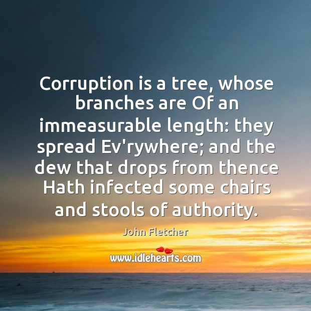 Corruption is a tree, whose branches are Of an immeasurable length: they Image