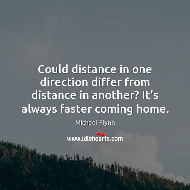Could distance in one direction differ from distance in another? It's always Image