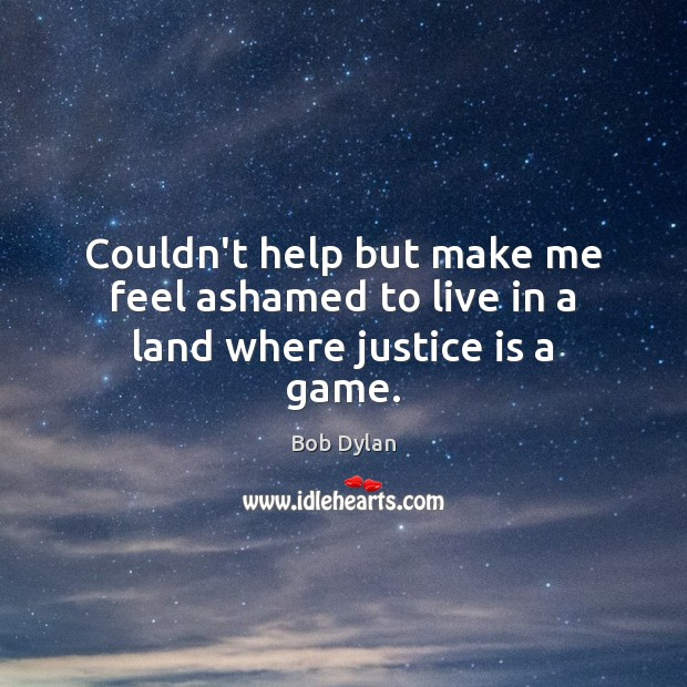 Couldn't help but make me feel ashamed to live in a land where justice is a game. Image
