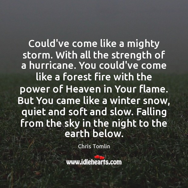 Could've come like a mighty storm. With all the strength of a Winter Quotes Image