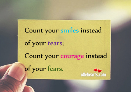 Count Your Smiles Instead Of Your…