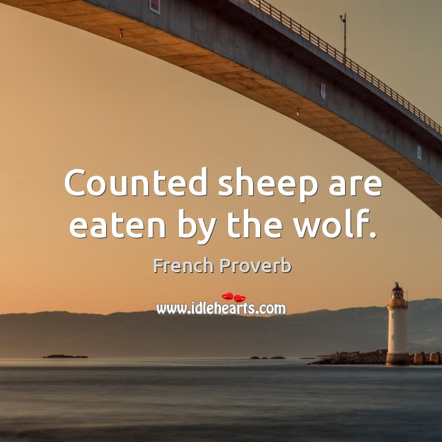 Image, Counted sheep are eaten by the wolf.