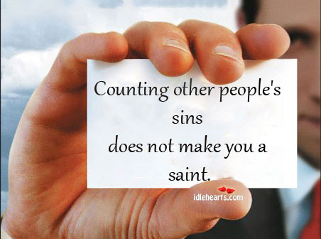 Counting sins Image
