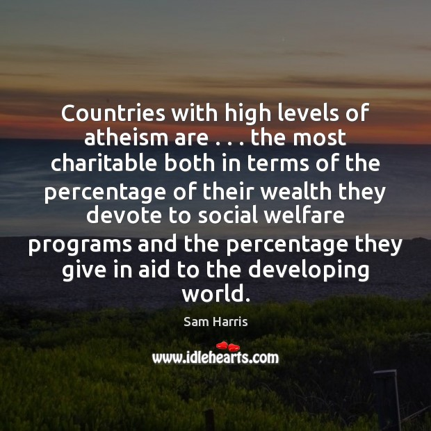 Countries with high levels of atheism are . . . the most charitable both in Image