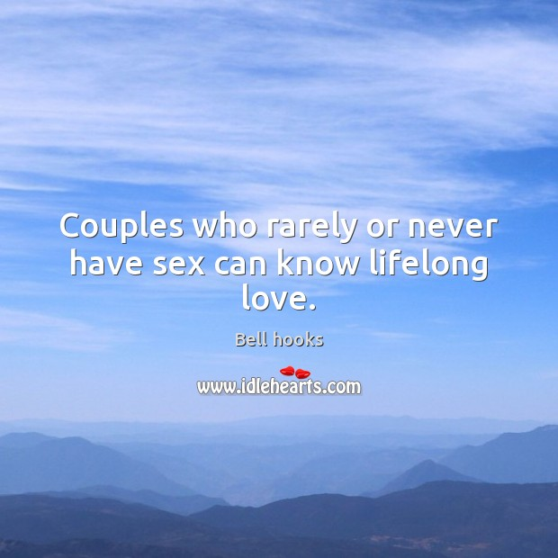 Image, Couples who rarely or never have sex can know lifelong love.