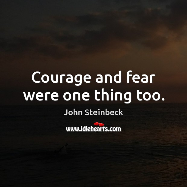 Image, Courage and fear were one thing too.