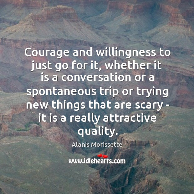 Image, Courage and willingness to just go for it, whether it is a