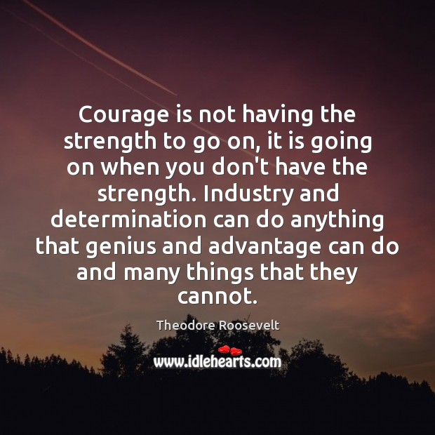 Image, Courage is not having the strength to go on, it is going