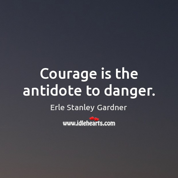 Courage is the antidote to danger. Image