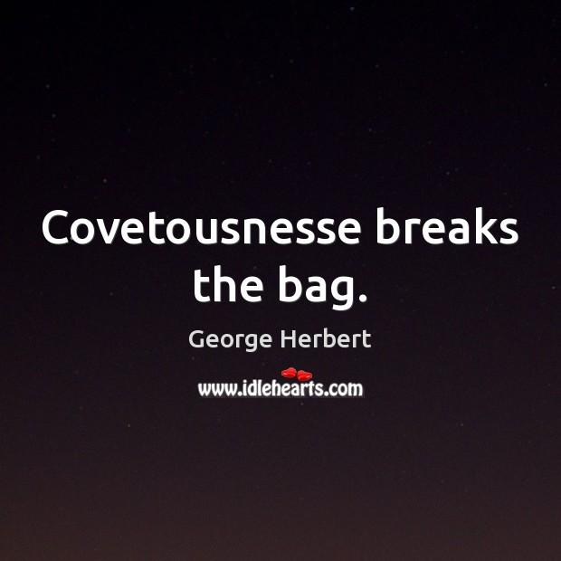 Covetousnesse breaks the bag. Image