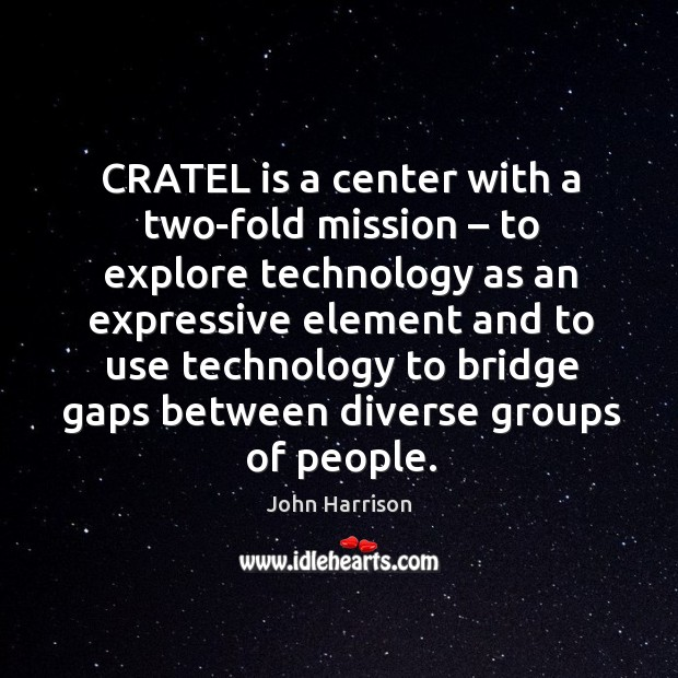 Cratel is a center with a two-fold mission – to explore technology as an expressive Image
