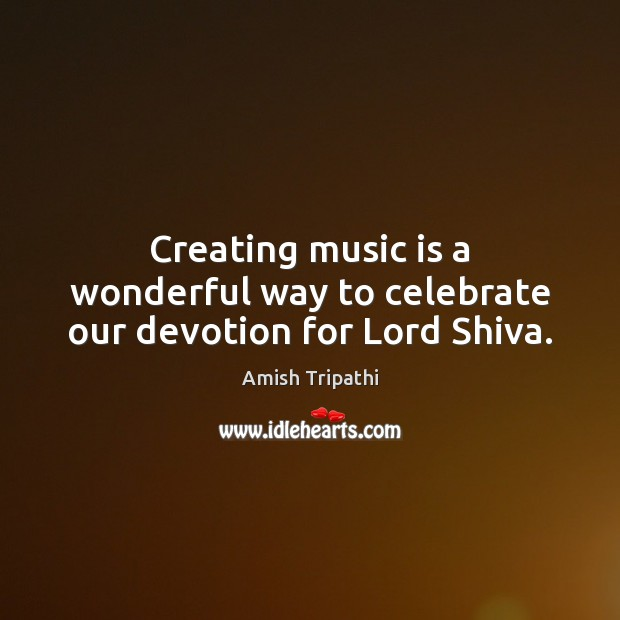 Image, Creating music is a wonderful way to celebrate our devotion for Lord Shiva.