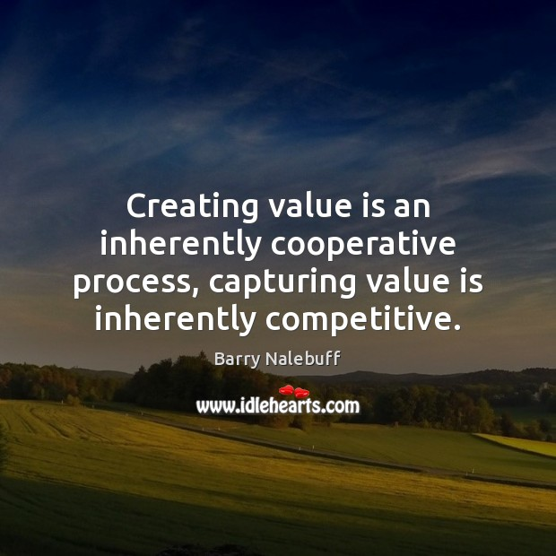 Image, Creating value is an inherently cooperative process, capturing value is inherently competitive.