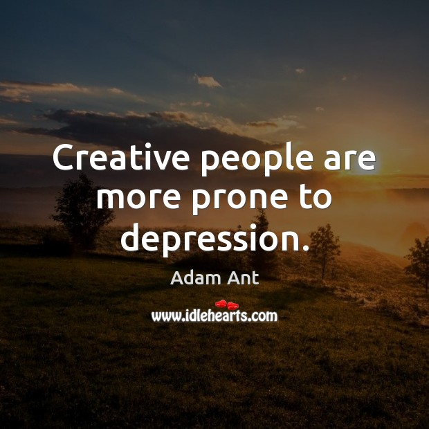 Creative people are more prone to depression. Image
