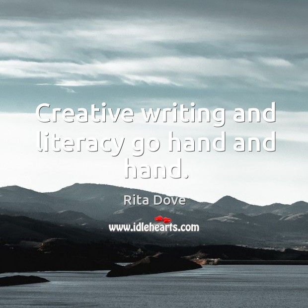 Creative writing and literacy go hand and hand. Image
