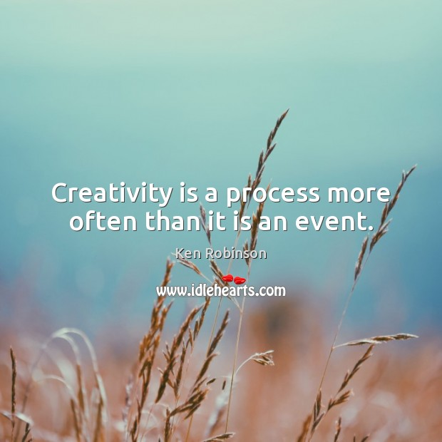 Creativity is a process more often than it is an event. Image