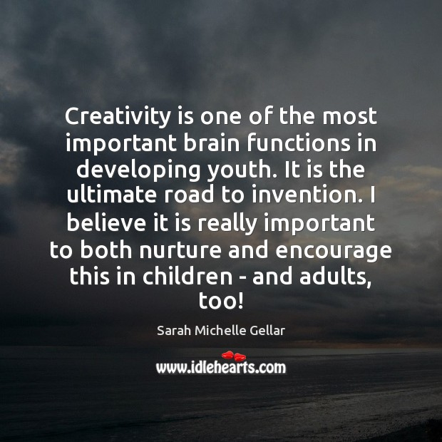 Image, Creativity is one of the most important brain functions in developing youth.