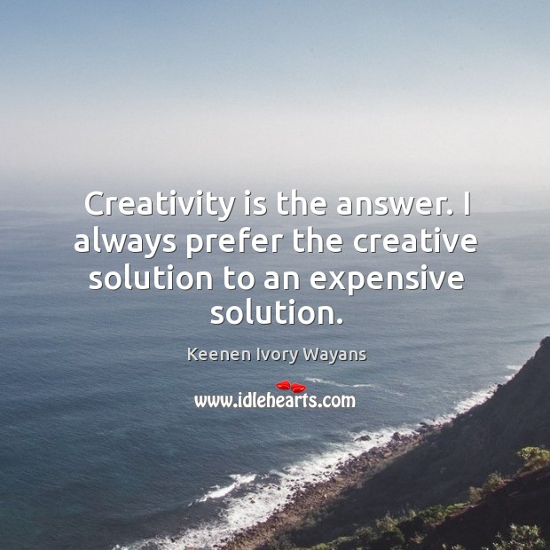 Creativity is the answer. I always prefer the creative solution to an expensive solution. Image