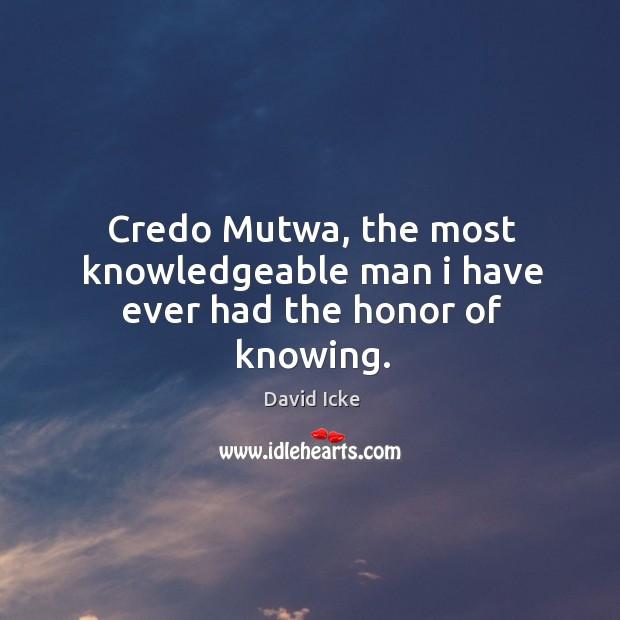 Credo Mutwa, the most knowledgeable man i have ever had the honor of knowing. Image