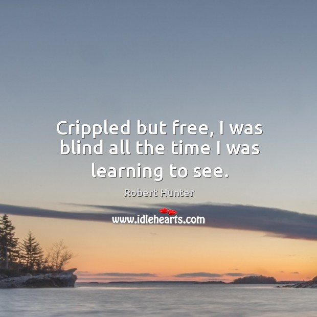 Crippled but free, I was blind all the time I was learning to see. Image