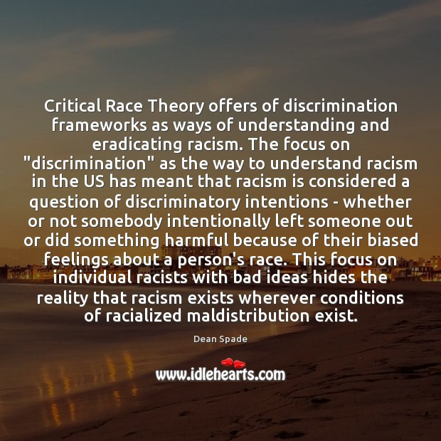 Image, Critical Race Theory offers of discrimination frameworks as ways of understanding and