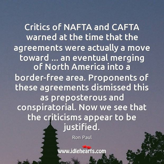 Image, Critics of NAFTA and CAFTA warned at the time that the agreements