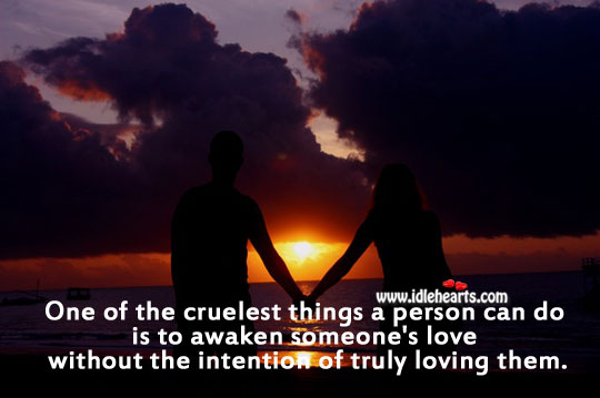 Image, One of the cruelest things in love.