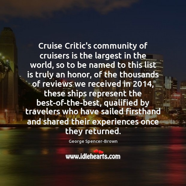 Image, Cruise Critic's community of cruisers is the largest in the world, so