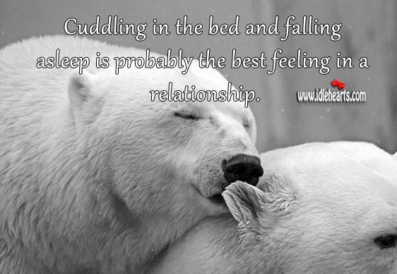 Image, Cuddling falling asleep is probably the best feeling in a relationship.