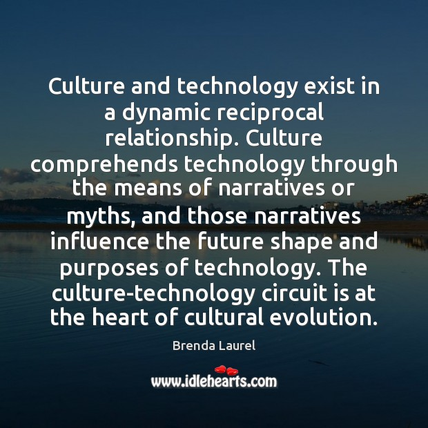Image, Culture and technology exist in a dynamic reciprocal relationship. Culture comprehends technology