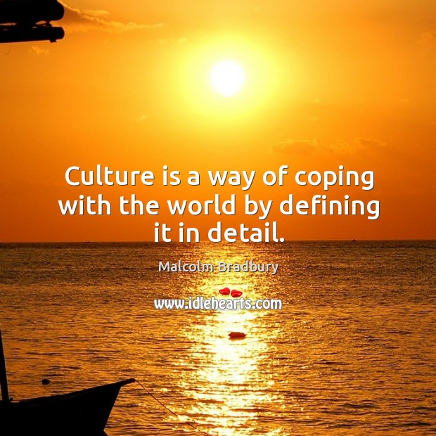 Culture is a way of coping with the world by defining it in detail. Image