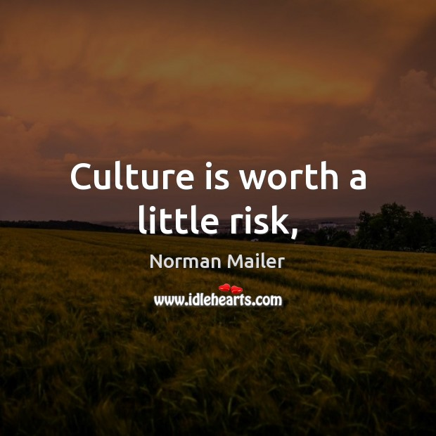 Culture is worth a little risk, Image