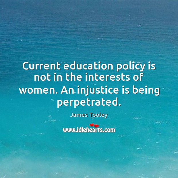 Current education policy is not in the interests of women. An injustice Image