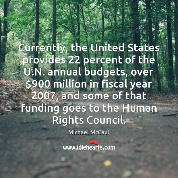 Image, Currently, the United States provides 22 percent of the U.N. annual budgets,