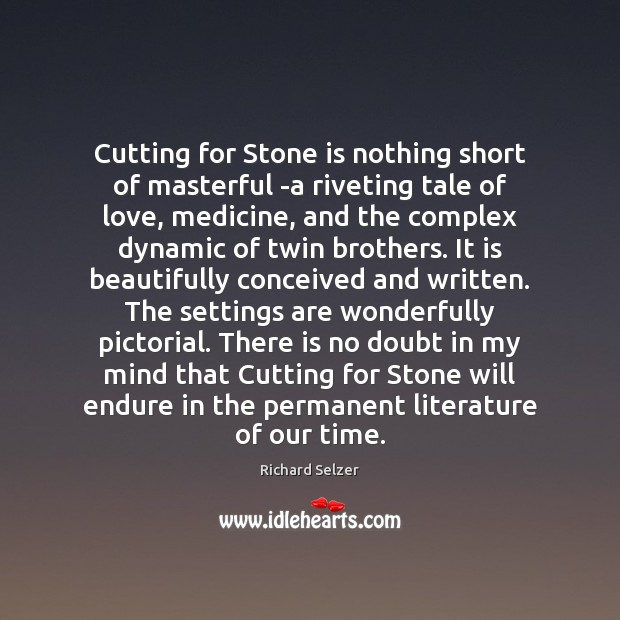Image, Cutting for Stone is nothing short of masterful -a riveting tale of