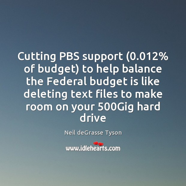 Image, Cutting PBS support (0.012% of budget) to help balance the Federal budget is